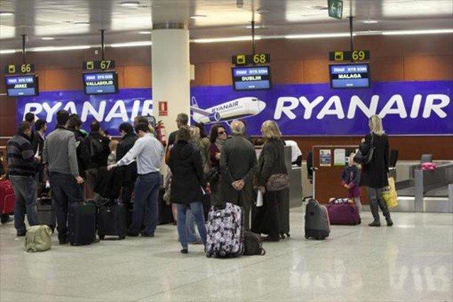 Pasajeros de Ryanair.