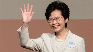 zentauroepp37825544 hong kong s new chief executive carrie lam waves after she w170326112338