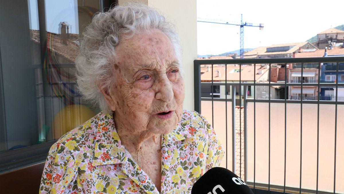 Maria Branyas, de 112 años, es la persona más longeva de Catalunya.