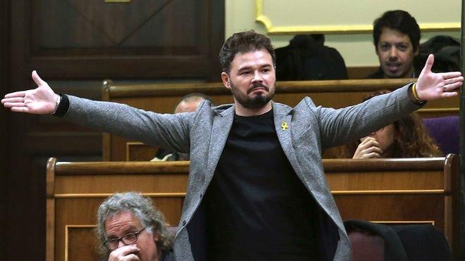 Gabriel Rufián, expulsat del Congrés després d'insultar Borrell