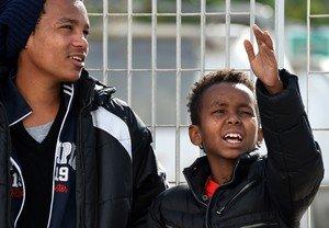 Tenjin, el nño eritreo de 11 años que emigró solo desde su país hasta Italia.