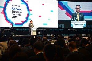 El primer ministro tailandés, Prayut Chan-o-cha, durante la apertura de la cumbre de la Asean.