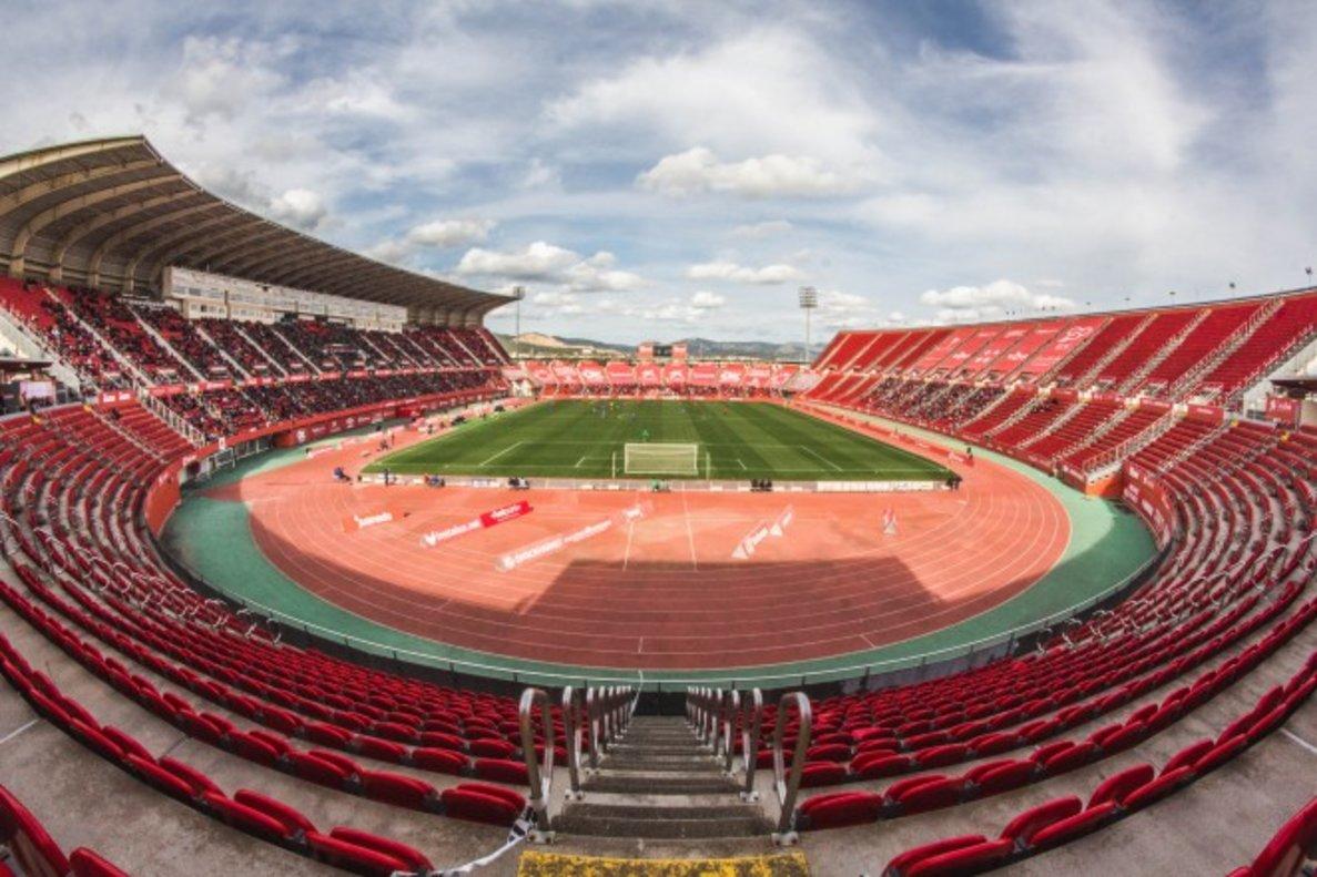 Imagen del antiguo estadio de Son Moix, renombrado ahora como Visit Mallorca Estadi.