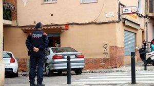 Un agente de los Mossos, el pasado día 18.
