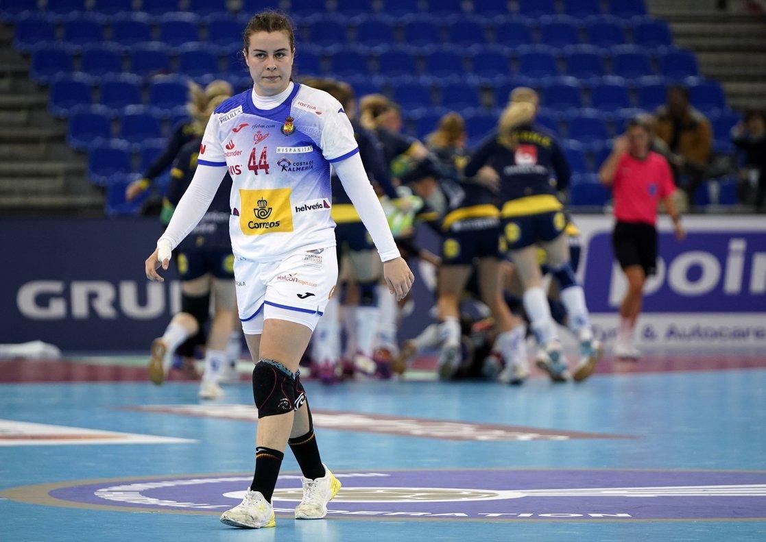 Ainhoa Hernández, durante el partido ante Suecia.