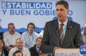 El alcalde de Badalona, Xavier García Albiol, en un acto en Barcelona el pasado mes de noviembre.