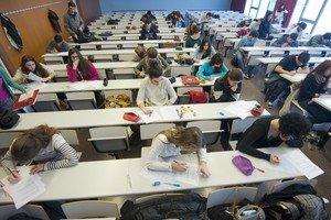 Alumnos en un aula de la la Universitat Rovira i Virgili.