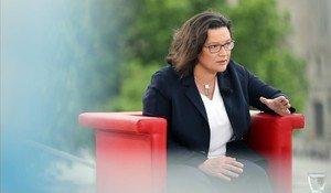Andrea Nahles, líder del Partido Socialdemócrata alemán.