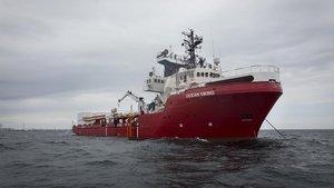 El barco humanitario 'Ocean Viking'.