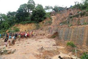 Derrumbes por las lluvias en Brasil.