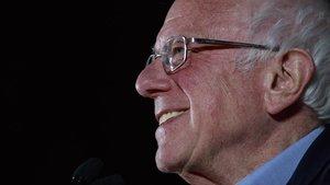 El candidato a las primarias demócratas Bernie Sanders, durante un mitin en Las Vegas.