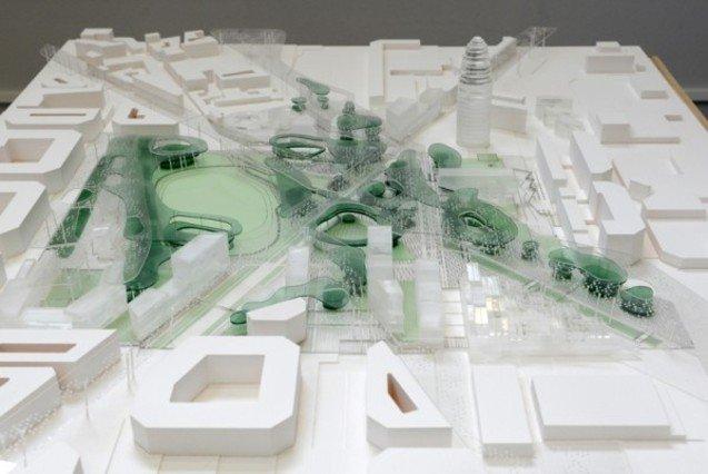 El proyecto ganador de las Glòries prevé el túnel de la Gran Via y el posible tranvía de la Diagonal