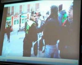 Captura de uno de los vídeos presentados en el juicio a Isa Serra.
