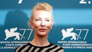 Cate Blanchett, este miércoles en la Mostra de Venecia