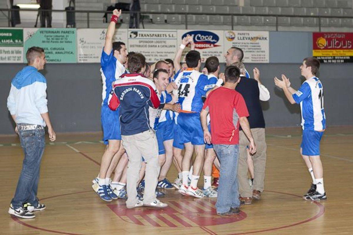 Celebración del Club Handbol Parets.