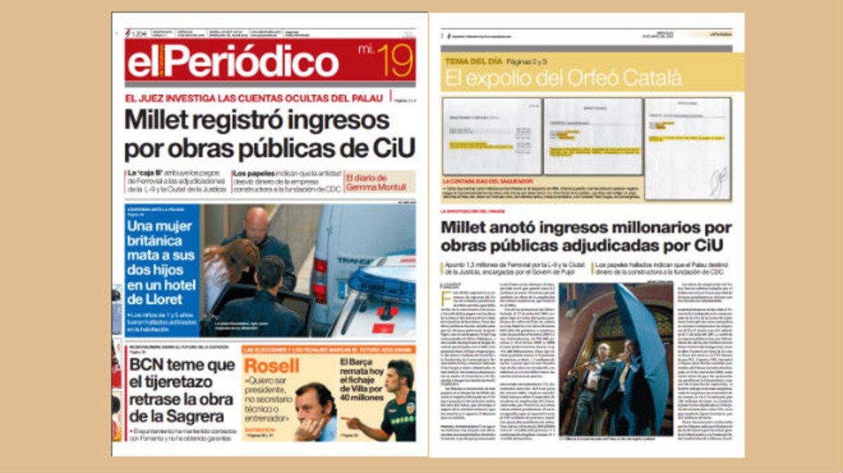 Millet anotó ingresos millonarios por obras públicas adjudicadas por CiU