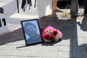 Homenaje a Samba Martine, la congoleña que murió hace ocho años en el CIE de Aluche.