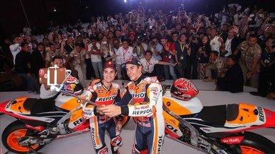 Márquez y Pedrosa hacen felices a miles de fans en Indonesia