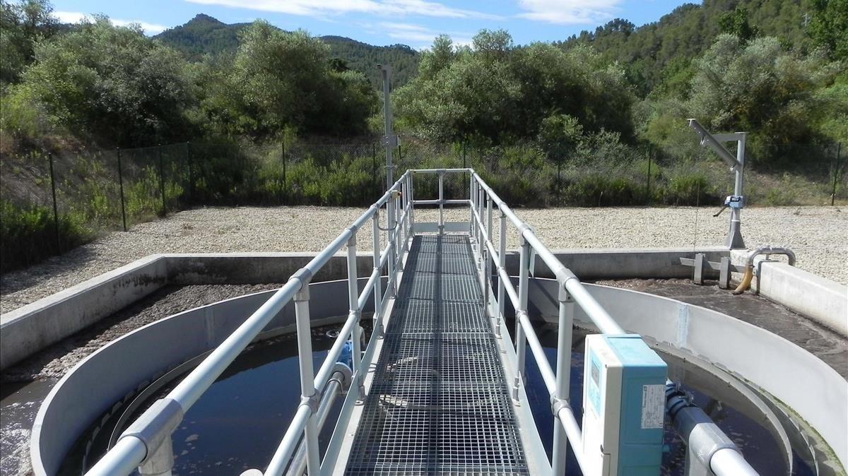 Depuradora de la Agència Catalana de l'Aigua.