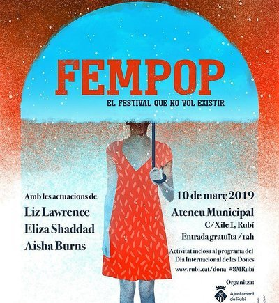 Cartel del festival FemPop de Rubí.