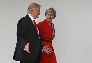 La primera ministra británica, Theresa May, y el presidente de los EEUU, Donald Trump.
