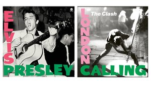 Las portadas de 'Elvis Presley', de 1956, y 'London calling', de The Clash, de 1979.