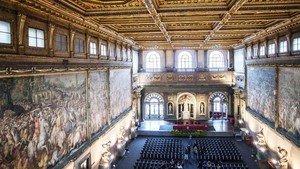 El enorme Salón de los Quinientos, en Florencia