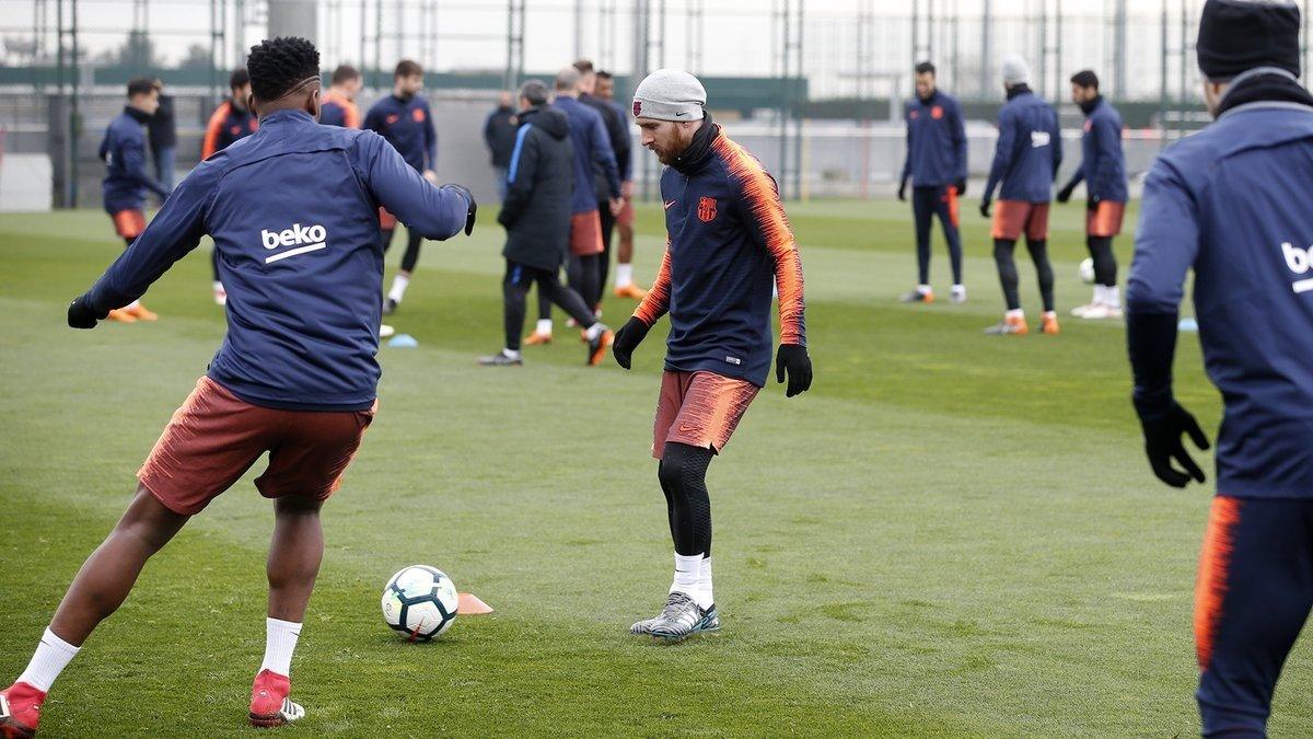 Imagen del entrenamiento de este jueves, que ha facilitado el club.