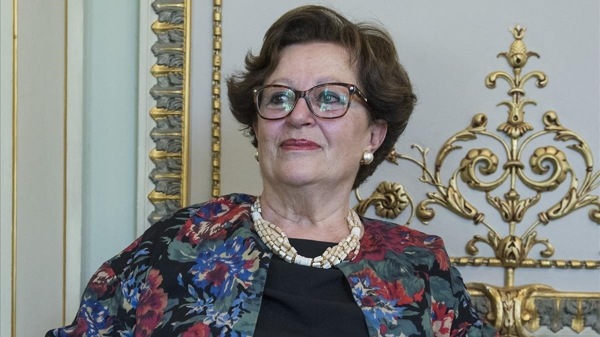 La escritora italiana Giulia Alberico en Barcelona.