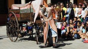 Espectáculo de la compañía Bucraa Circus en FiraTàrrega