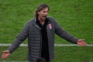 Ricardo Gareca, entrenador de la selección de fútbol de Perú.
