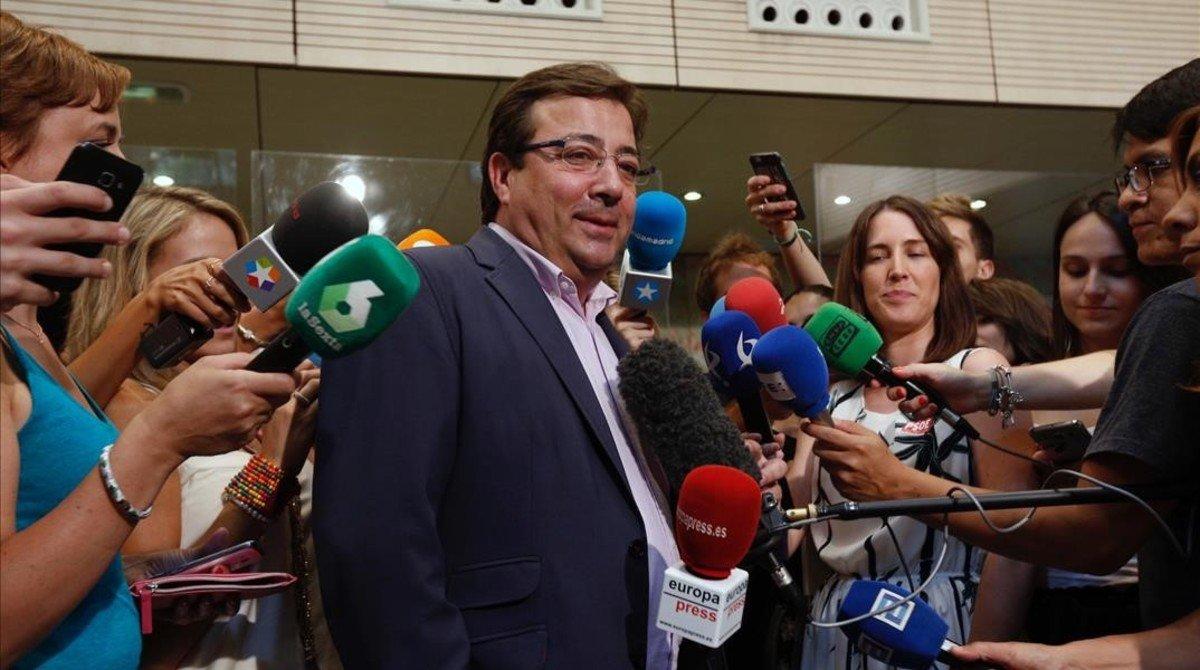 """El presidente de Extremadura dice que Stoichkov es """"un patético ejemplo de odio"""""""