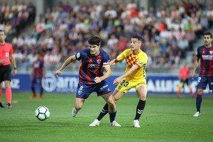 El partido de la polémica entre el Huesca y el Nástic de la pasada jornada.