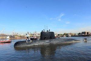Imagen facilitada por la Armada argentina del submarino 'ARA San Juan', desaparecido en el Atlántico.