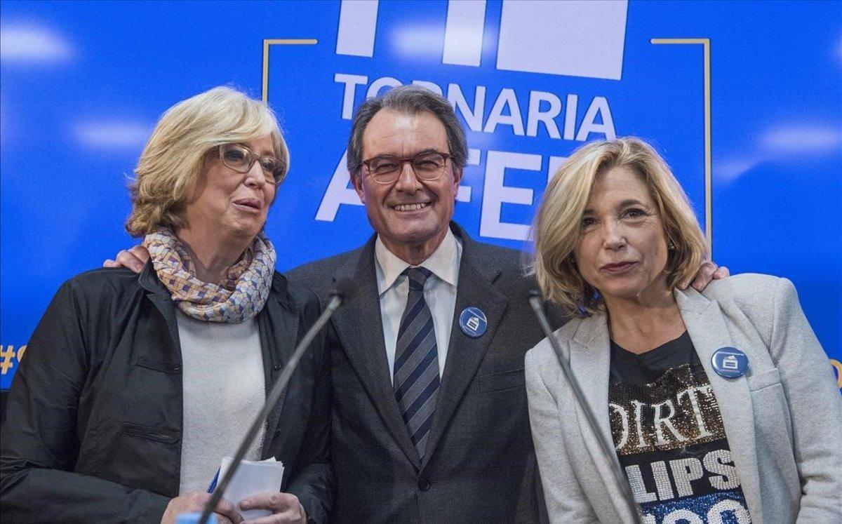 Irene Rigau, Artur Mas y Joana Ortega, en una imagen de archivo.