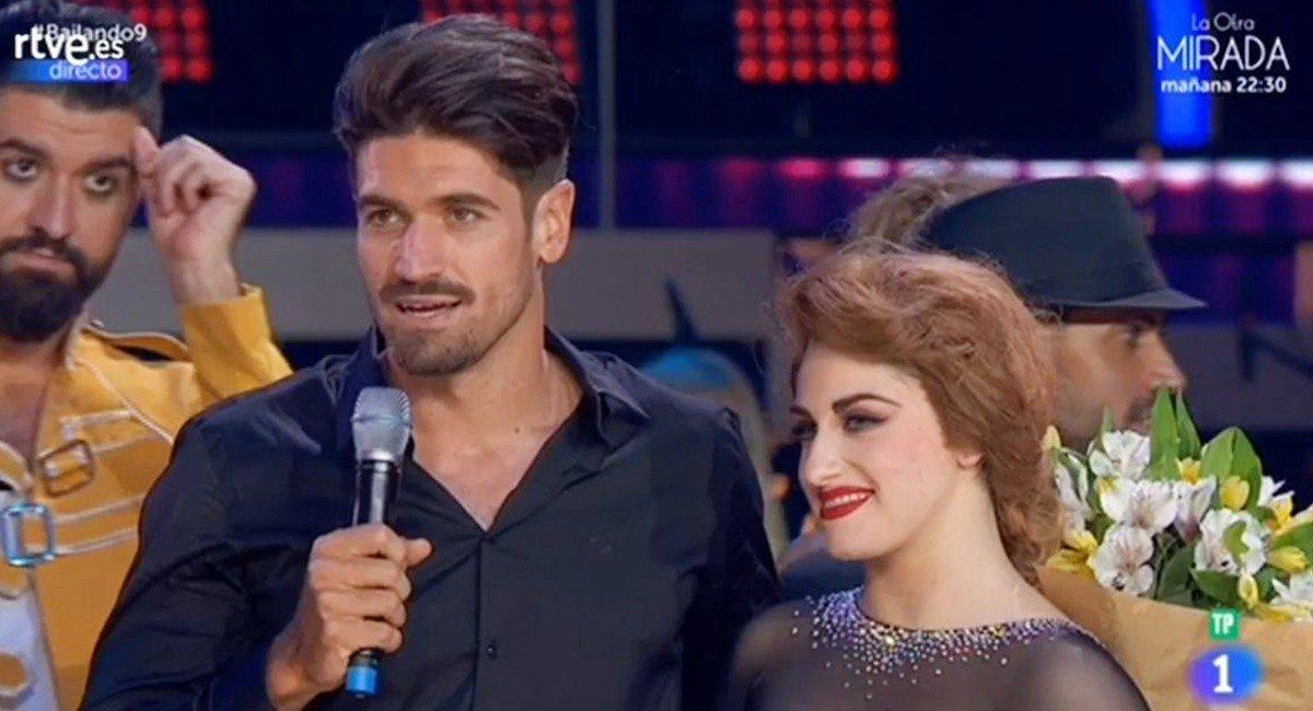 Javier Hernanz y su pareja Rosa.