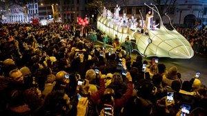 Cabalgata de los Reyes Magos en Barcelona.
