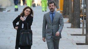 El jefe de los Mossos, Ferran López, esta mañana llegando al Tribunal Supremo.