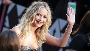 Jennifer Lawrence, el pasado día 4, llega a la gala de los Oscar, en Hollywood.