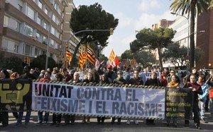 Afectacions de trànsit per la manifestació contra Vox i el racisme