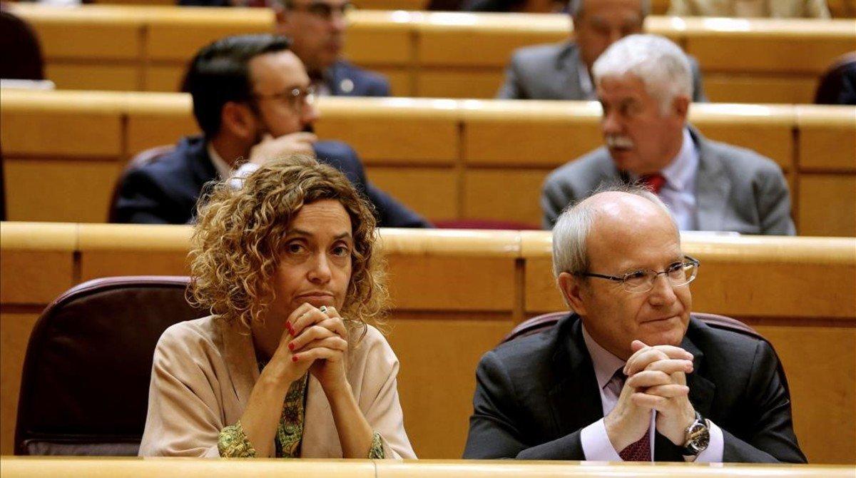 José Montilla, este viernes junto a Meritxell Batet en el Senado.