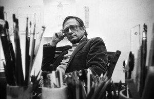 Josep Maria Subirachs, en su estudio en 1983.