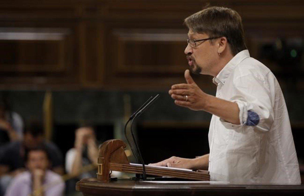 El líder de Catalunya en Comú, Xavier Domènech.