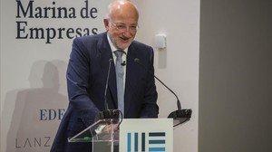 Juan Roig, en la inauguración de la Marina de Empresas de Valencia, donde está Lanzadera o Edem.