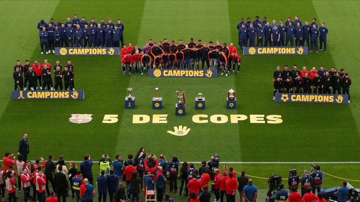Las secciones del Barça campeonas de la Copa del Rey 2017-18.