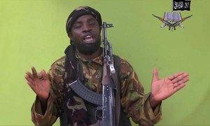 El líder de Boko Haram, Abubakr Shekau, en una imatge de l'abril passat.