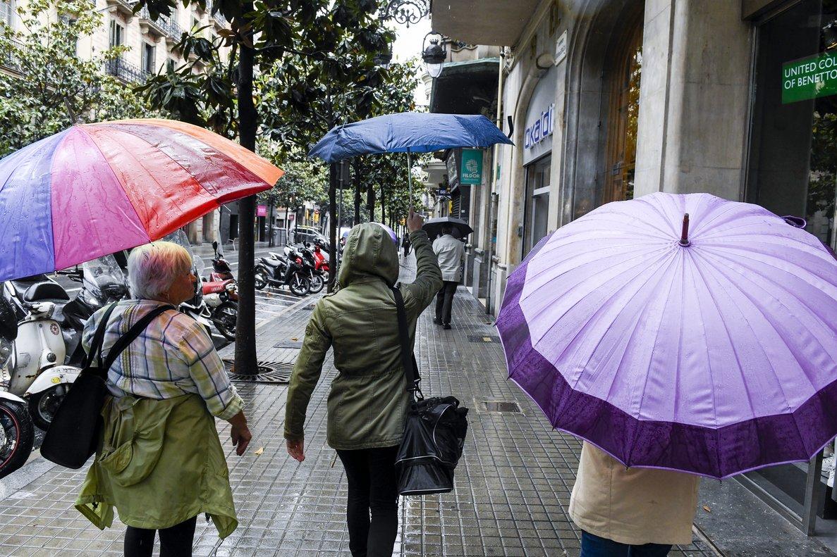 Día de lluvía en Barcelona, en mayo del año pasado.