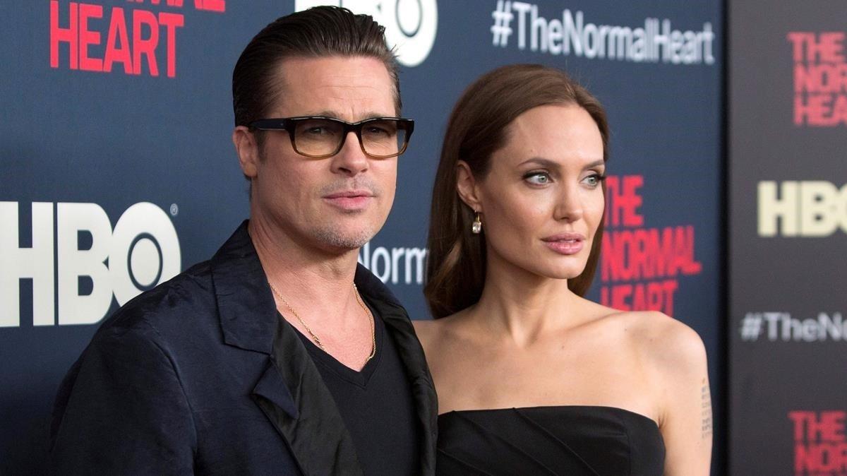 Brad Pitt y Angelina Jolie, hace cuatro años.