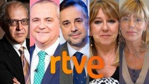 Los candidatos que se han presentado hasta la fecha para presidir RTVE.