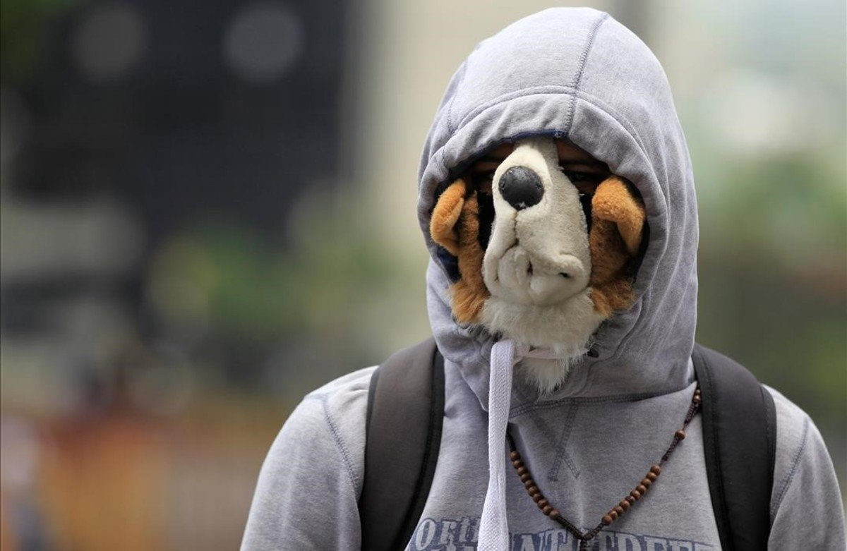 lpedragosa38689364 an oposition supporter wearing a dog mask rallies against ve170531215623